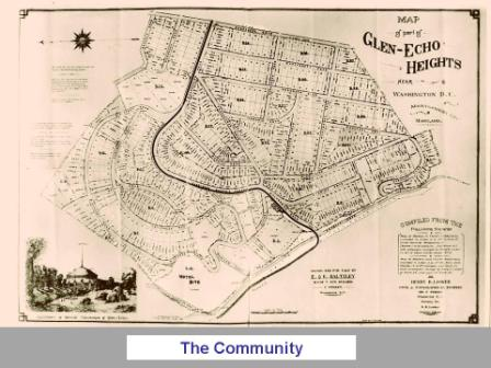 Old Map of Glen Echo Heights (Bill Fleury's Collection)